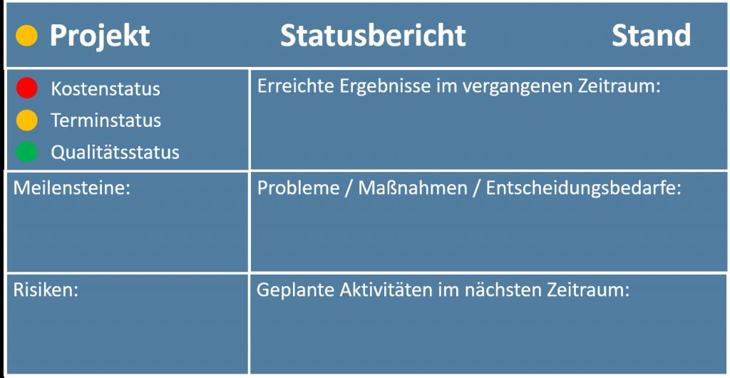 Projektstatusbericht Vorlage Powerpoint Und 1